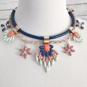 Jewelmint Faux Leather Crystal Choker Necklace